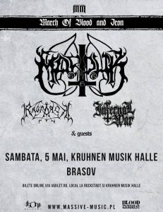 Concert Marduk, Ragnarok si Infernal War in Brasov @ Kruhnen Musik Halle