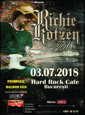 Concert Richie Kotzen la Hard Rock Cafe