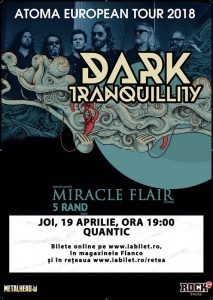 Concert Dark Tranquillity in aprilie in club Quantic @ Club Quantic