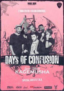 Concert Days of Confusion - lansare videoclip Kagemusha @ Club Control | București | Municipiul București | Romania