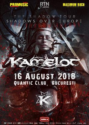 Concert Kamelot pe 16 august in club Quantic din Bucuresti
